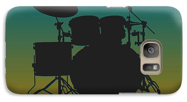 Jacksonville Jaguars Drum Set Galaxy S7 Case by Joe Hamilton