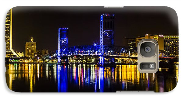 Galaxy Case featuring the photograph Jacksonville Skyline by Paula Porterfield-Izzo