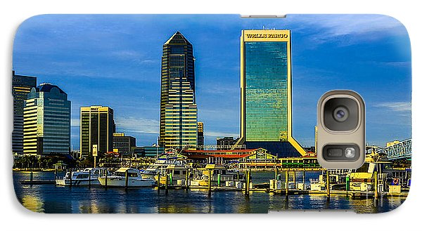 Galaxy Case featuring the photograph Jacksonville Skyline Sunset by Paula Porterfield-Izzo
