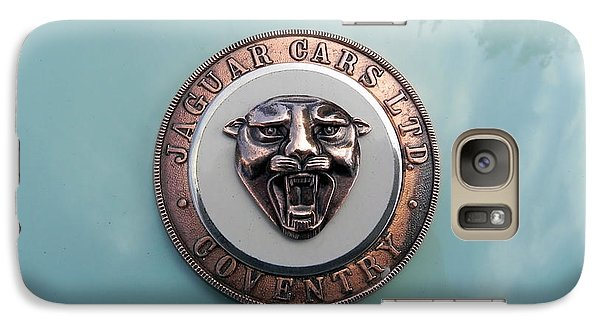 Galaxy Case featuring the photograph Jaguar Hood Emblem by Cheryl Hoyle
