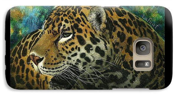 Galaxy Case featuring the mixed media Jaguar by Sandra LaFaut