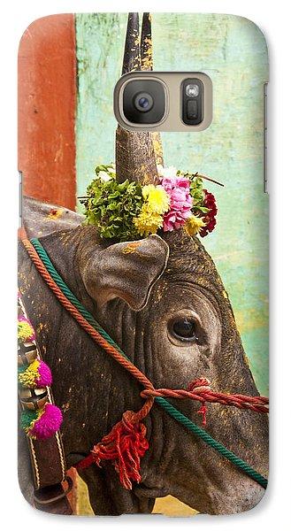 Galaxy Case featuring the photograph Jallikattu Bull by Dennis Cox WorldViews