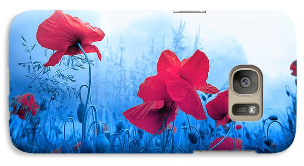 Galaxy Case featuring the photograph Jam With Poppies by Philippe Sainte-Laudy