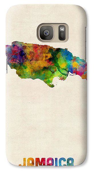 Jamaica Watercolor Map Galaxy Case by Michael Tompsett