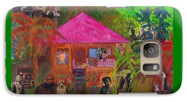 Galaxy Case featuring the mixed media Jamaican Holiday by Catherine Redmayne