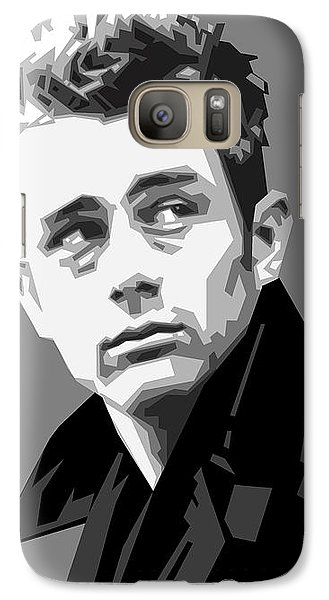 James Dean In Black And White Galaxy S7 Case by Douglas Simonson