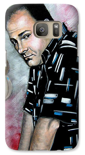 Galaxy Case featuring the painting James Gandolfini As Tony Soprano by Patrice Torrillo