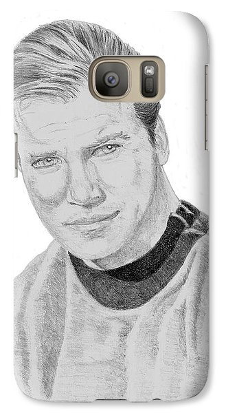 Galaxy Case featuring the drawing James Tiberius Kirk by Thomas J Herring