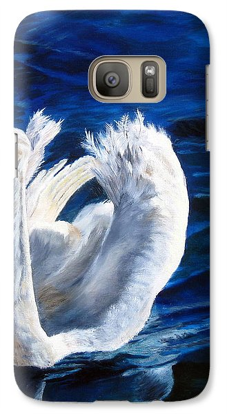Galaxy Case featuring the painting Jamie's Swan by LaVonne Hand