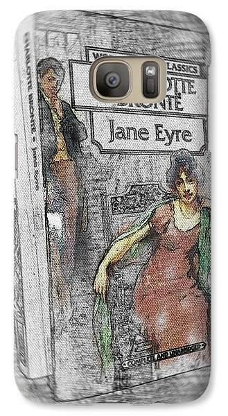 Galaxy Case featuring the painting Jane Eyre Book Abstract by Nik Helbig