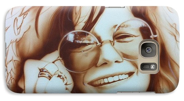 Rock And Roll Galaxy S7 Case - Janis by Christian Chapman Art