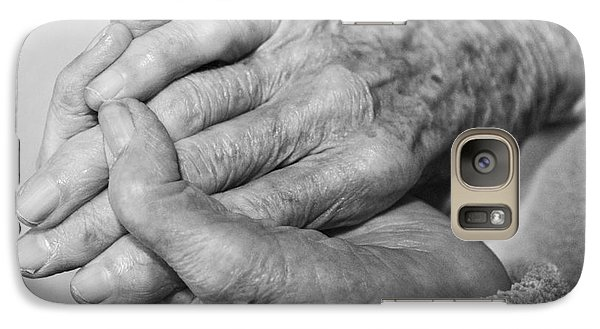 Galaxy Case featuring the photograph Jan's Hands by Roselynne Broussard