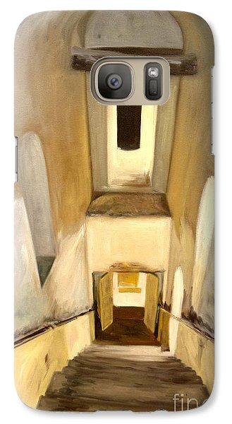 Galaxy Case featuring the painting Jantar Mantar Staircase by Mukta Gupta