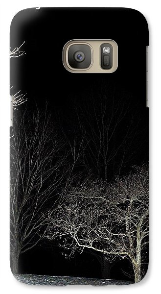 Galaxy Case featuring the photograph January Crescent Moon by Steven Richman