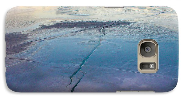 Galaxy Case featuring the photograph January Sunset On A Frozen Lake by Nina Silver