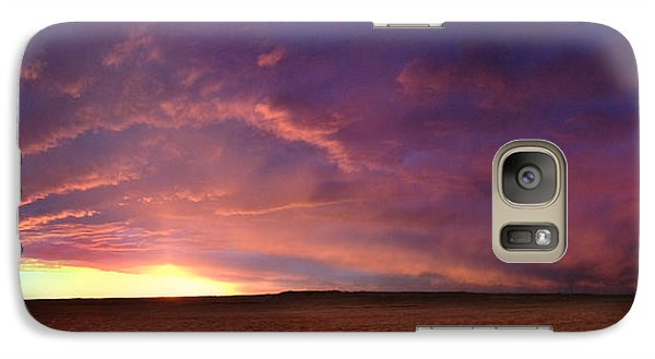 Galaxy Case featuring the photograph January Sunset With Cold Front by Rod Seel