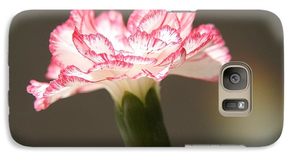 Galaxy Case featuring the photograph January's Flower by Lynn England