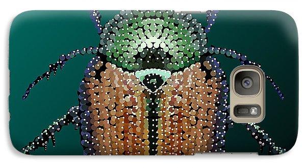 Galaxy Case featuring the digital art Japanese Beetle Bedazzled II by R  Allen Swezey