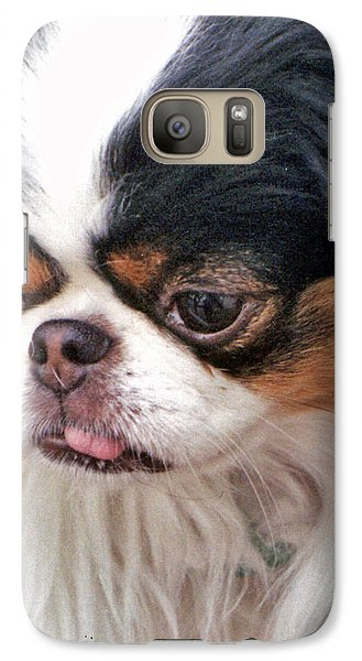 Galaxy Case featuring the photograph Japanese Chin Dog Portrait by Jim Fitzpatrick