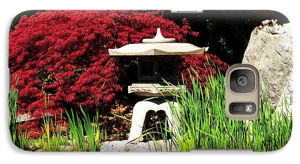 Galaxy Case featuring the photograph Japanese Garden by Angela DeFrias