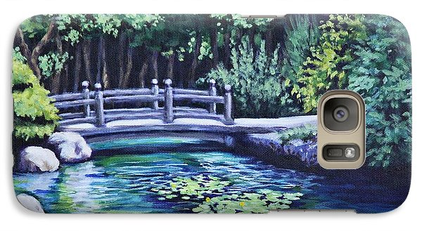 Galaxy Case featuring the painting Japanese Garden Bridge San Francisco California by Penny Birch-Williams