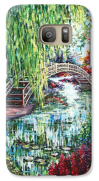 Galaxy Case featuring the painting Japanese Garden by Cheryl Del Toro
