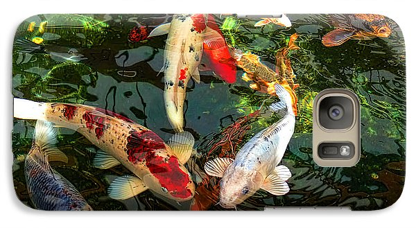 Japanese Koi Fish Pond Galaxy S7 Case by Jennie Marie Schell