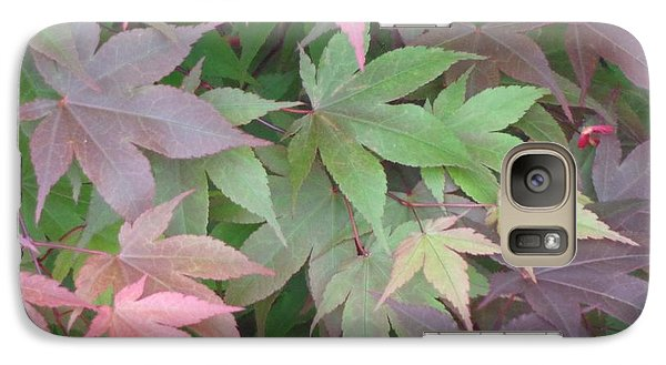 Galaxy Case featuring the photograph Japanese Maple Leaves by Christina Verdgeline