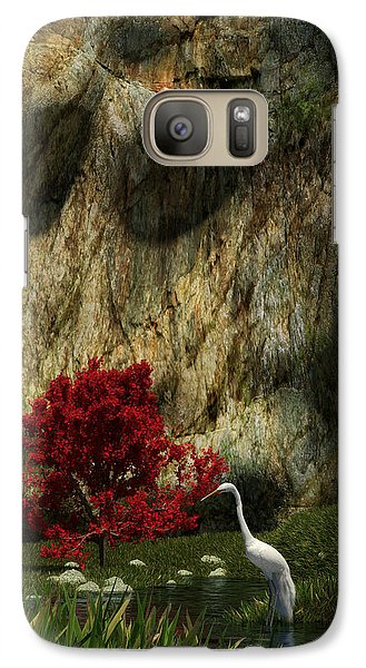 Galaxy Case featuring the digital art Japanese Maple by Matt Lindley