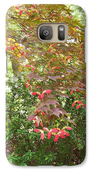 Galaxy Case featuring the photograph Japanese Maple Spring 3 by Nancy Kane Chapman