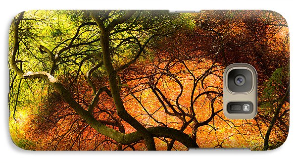Galaxy Case featuring the photograph Japanese Maples by Angela DeFrias