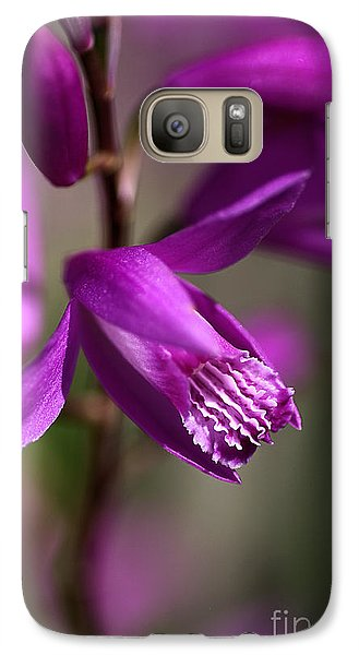 Galaxy Case featuring the photograph Japanese Orchid by Joy Watson
