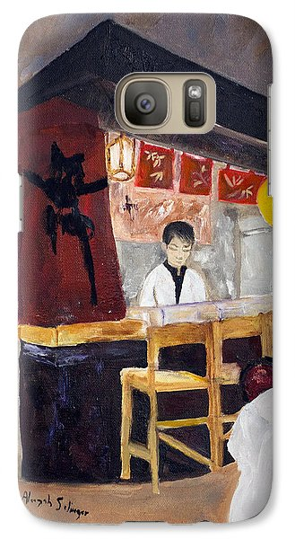 Galaxy Case featuring the painting Japanese Restaurant by Aleezah Selinger