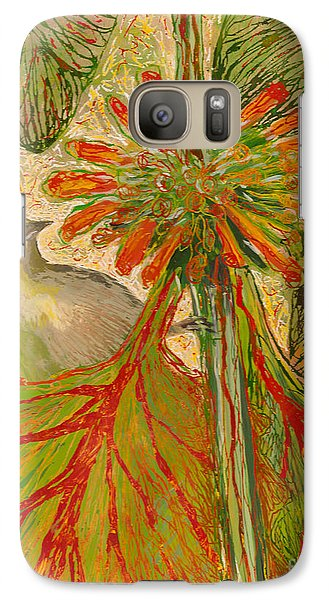 Galaxy Case featuring the painting Japanese White Eye by Anna Skaradzinska