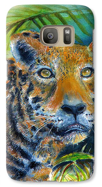 Galaxy Case featuring the painting Jaquar On The Prowl by Bernadette Krupa