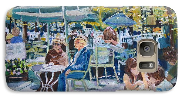 Galaxy Case featuring the painting Jardin Du Luxembourg by Julie Todd-Cundiff