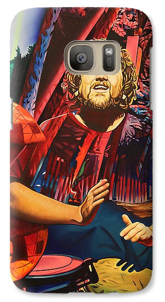Galaxy Case featuring the painting Jason Hann At Horning's Hideout by Joshua Morton