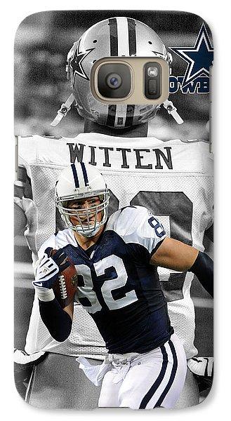 Jason Witten Cowboys Galaxy S7 Case by Joe Hamilton