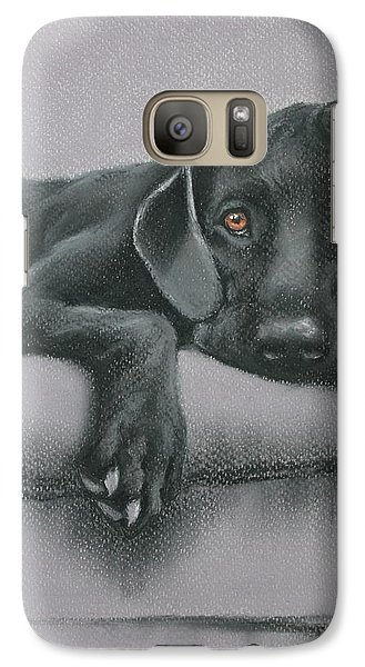 Galaxy Case featuring the drawing Jasper by Cynthia House