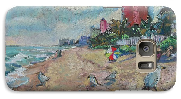 Galaxy Case featuring the painting Jaunty Beach Birds by Linda Novick