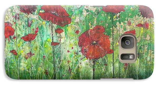 Galaxy Case featuring the painting Java Poppy Field by Christy  Freeman