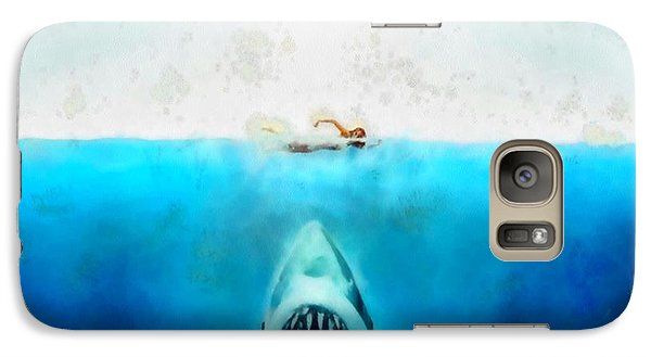 Galaxy Case featuring the painting Jaws by Elizabeth Coats