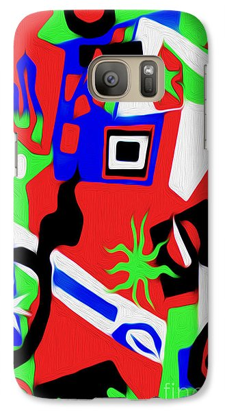 Galaxy Case featuring the digital art Jazz Art - 03 by Gregory Dyer