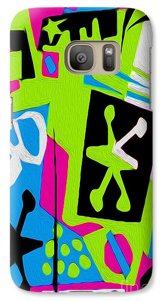 Galaxy Case featuring the digital art Jazz Art - 05 by Gregory Dyer