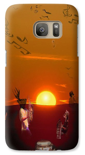 Galaxy Case featuring the digital art Jazz Fest by Cathy Anderson