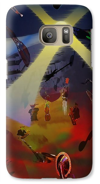 Galaxy Case featuring the digital art Jazz Fest II by Cathy Anderson