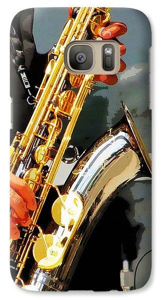 Galaxy Case featuring the photograph Jazz Man by John Freidenberg