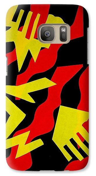 Galaxy Case featuring the mixed media Jazz by Michele Myers