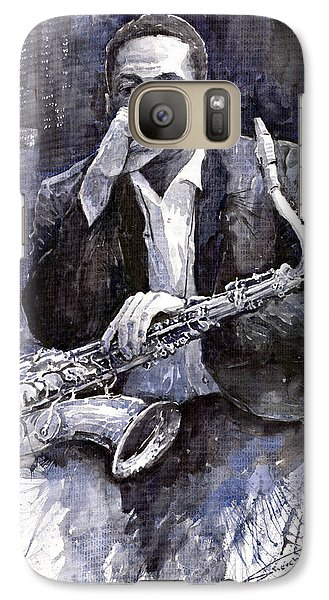 Jazz Saxophonist John Coltrane Black Galaxy S7 Case by Yuriy  Shevchuk