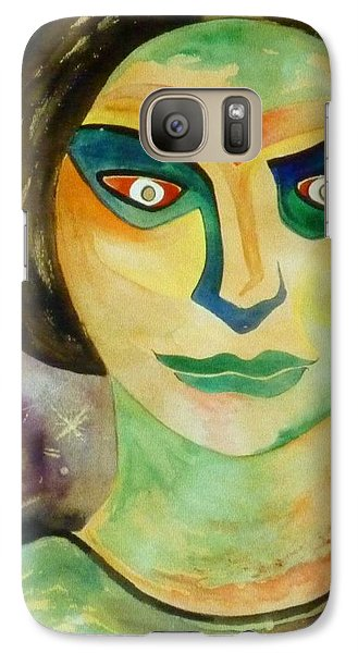 Galaxy Case featuring the painting Jealousy by Douglas Fromm